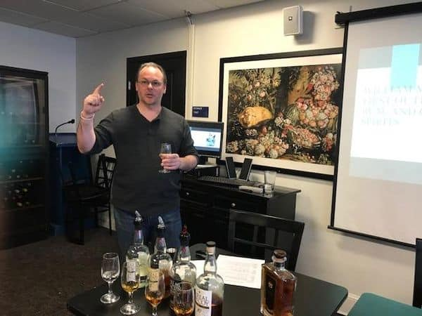 Rum Tasting at the Wine Institute of New England